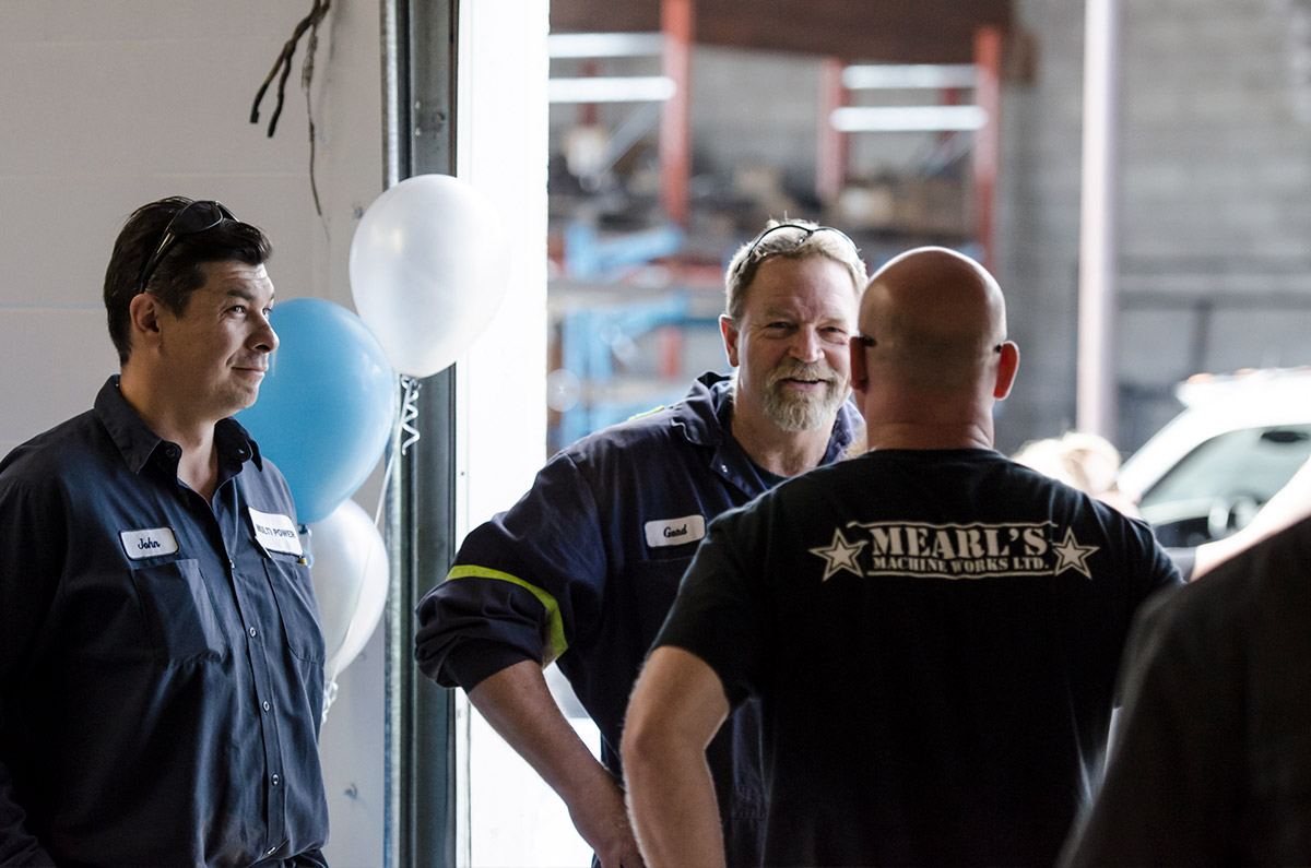 Mearl's Machine Works Employees celebrating 40 years in industry with open house