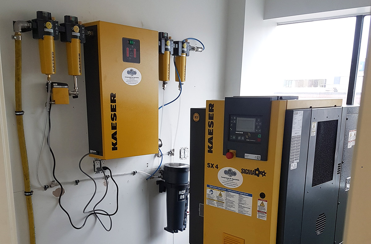 Mearl's Machine works supplies and services Kaeser Compressed Air systems for the BC Interior