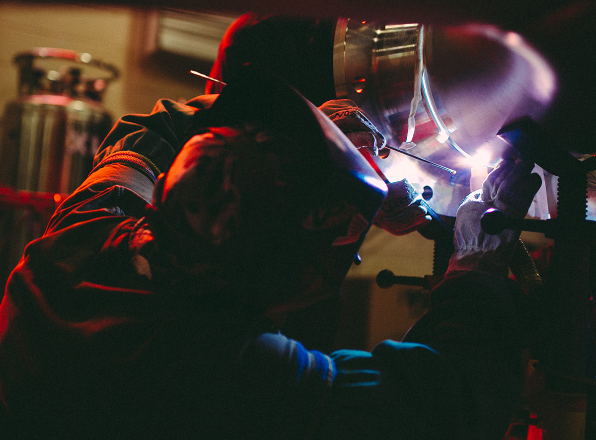 Our technicians and their meticulous attention to detail when welding inside Mearl's Machine Works