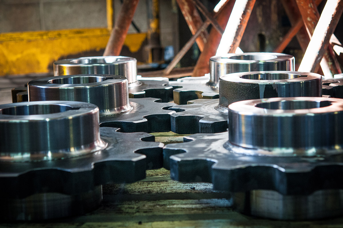 In-house fabrication and welding of gears for Mearl's Machine Works