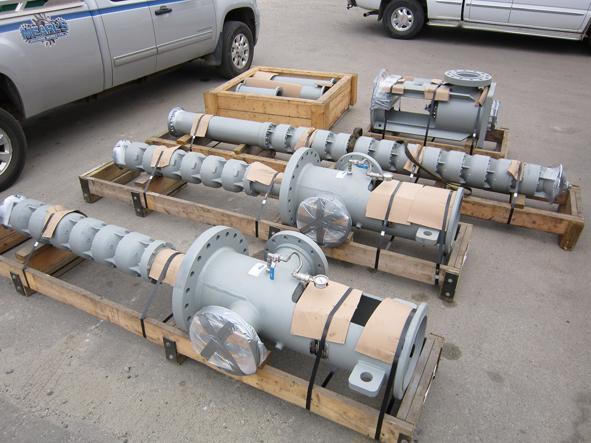 Pump Supply parts and servicing outside Mearl's Machine Works in Kelowna
