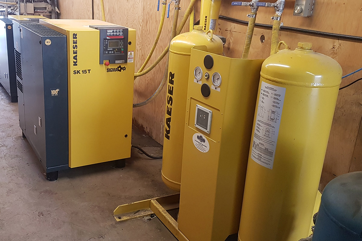Kaeser SK 15T Compressed Air system supplied by Mearl's in BC